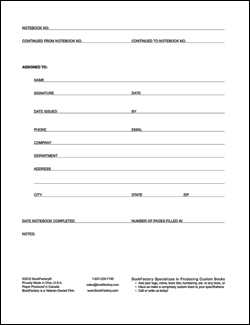 laboratory notebook format